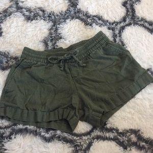 Army Green short shorts